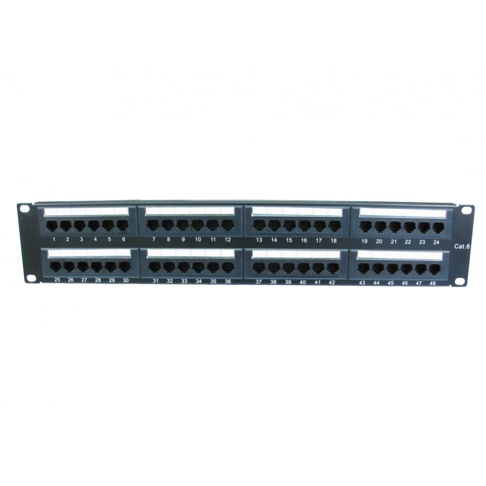 Cables Direct UT-899548 48 Port CAT6 Patch Panel