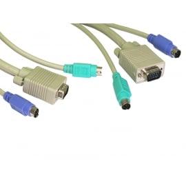 PS/2 & SVGA KVM Cable