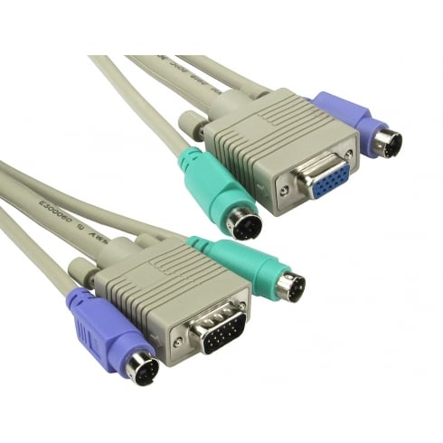 PS/2 & SVGA KVM Cable