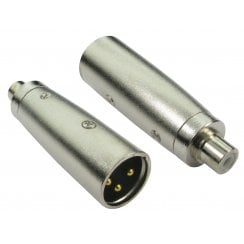 RCA (F) to XLR (M) Adapter - Gold Pins