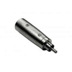 RCA (M) to XLR (M) Adapter, Gold Pins
