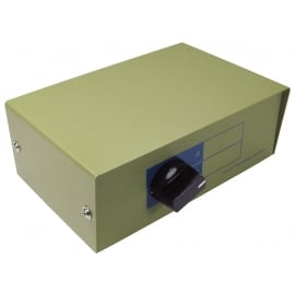 RJ45 Manual Switch Box - Metal