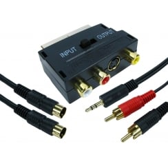 SCART to SVHS & Three RCA Connection Kit