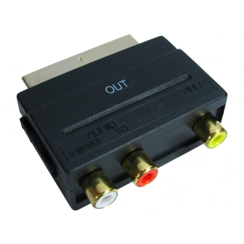 SCART to Three RCA Adapter
