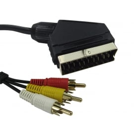 SCART to Three RCA Cable