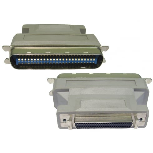 SCSI 1-2 50 Pin Centronic Male to Half Pitch 50 Female Adapter