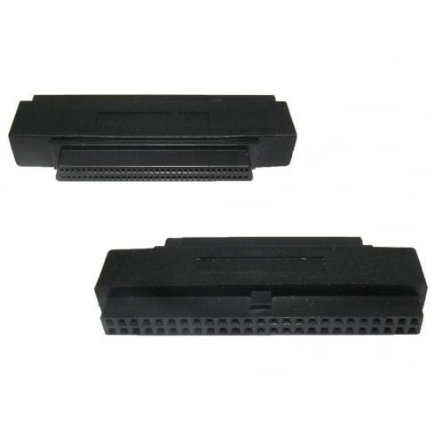 SCSI 2-3 Half Pitch 68 Female to 50 Pin IDC Female Adapter