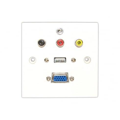 Single Faceplate VGA/USB/3RCA and Audio