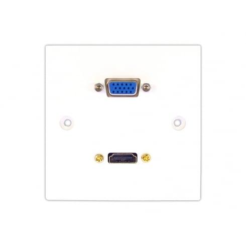 Single HDMI and VGA Faceplate