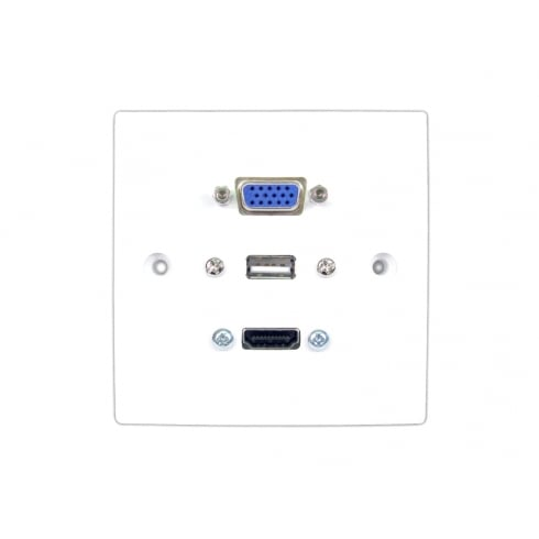 Single HDMI/VGA and USB Faceplate