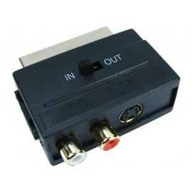 Switchable SCART to SVHS & Two RCA Adapter