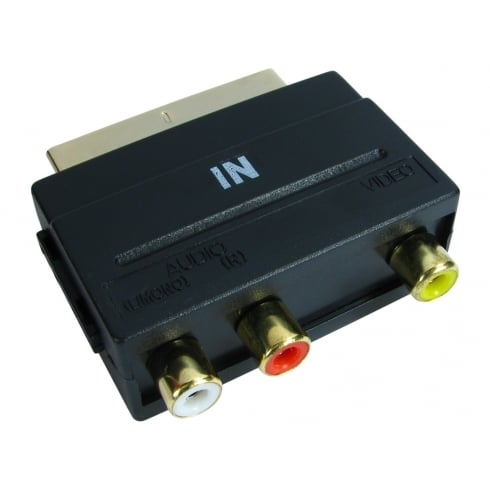 Triple RCA to SCART Adapter