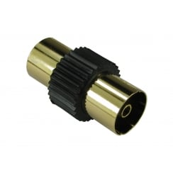 TV Cable Coupler - Gold Flashed