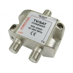 TV / Satellite Combiner for F Connectors