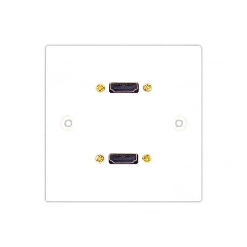 Twin HDMI Single Faceplate