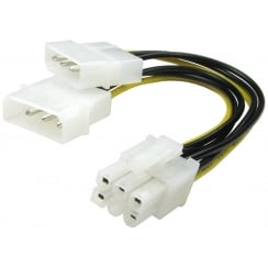Twin Molex to 6 Pin PCI-e Cable