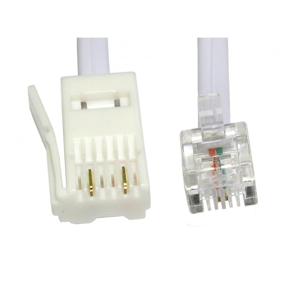 Two Wire Rj11 Male To Bt Male Cable