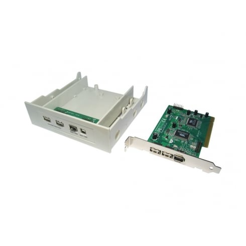 USB 2.0/FireWire Combo PCI Card & Bay