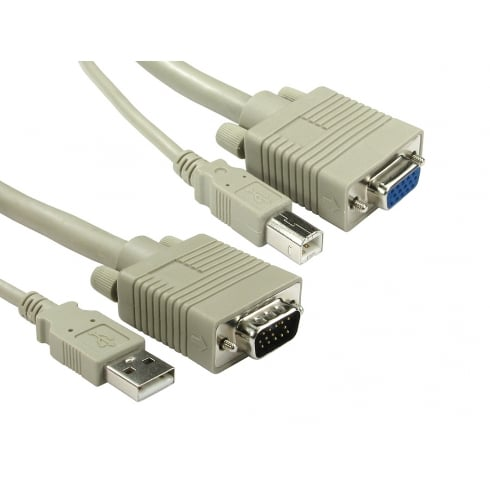 USB A to B & SVGA KVM Cable