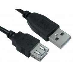 USB2.0 Type A (M) to Type A (F) Extension Cable