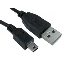 USB2.0 Type A Male to Mini B Male Cable