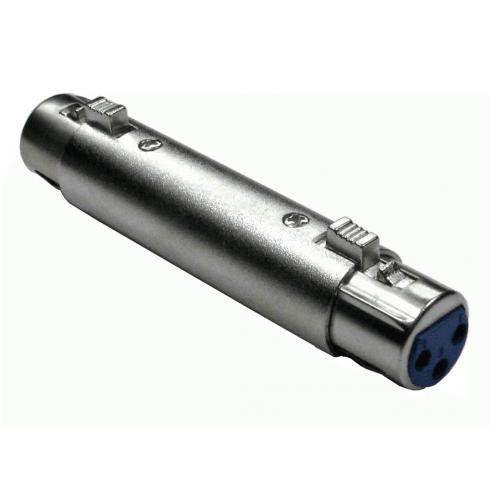 XLR (F) to XLR (F) Adapter - Gold Pins